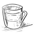 cup drawing on white background vector image
