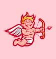 cupid character cartoon vector image