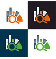 data analysis icon vector image vector image