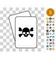 death cards with bonus vector image vector image