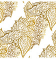 elegant hand drawn seamless paisley pattern vector image vector image