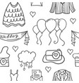 element wedding various in doodles style vector image vector image