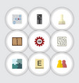 flat icon entertainment set of mahjong bones game vector image vector image