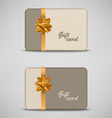 Gift card with stripes and bow vector image