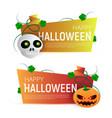 happy halloween sale banner or sticker design vector image vector image