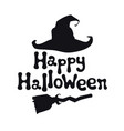 happy halloween theme handdrawn lettering phrase vector image