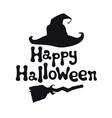 happy halloween theme handdrawn lettering phrase vector image vector image