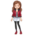 Hipster girl vector image vector image