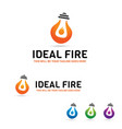 Ideal fire logo vector image
