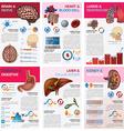 Internal Human Organ Health And Medical Chart vector image vector image