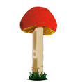 isolated red mushroom vector image vector image