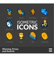 Isometric outline icons set 57 vector image vector image