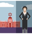 Jew and jewdaism banner vector image vector image
