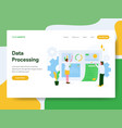 landing page template data processing concept vector image vector image