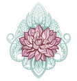 lotus decorative vector image vector image