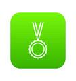 medal icon digital green vector image vector image
