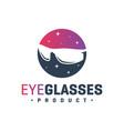 modern sunglasses logo vector image vector image