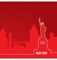 New York USA Concept for web banner One line vector image vector image