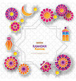 ramadan kareem concept banner with islamic vector image vector image