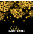 Random Falling Gold Snowflakes Abstract pattern on vector image vector image