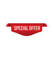 red banner special offer vector image vector image
