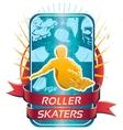 roller skaters design vector image vector image