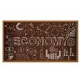 School board doodle with ecomony symbols vector image