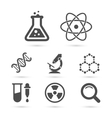 Science trendy icons pack elements vector image
