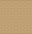 seamless arabic geometric ornament in brown color vector image