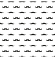 Seamless background pattern with black mustache vector image vector image