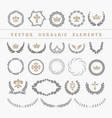 set laurel wreath - symbol of victory and vector image vector image