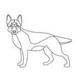 shepherd single icon in outline style dog vector image vector image