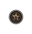 star fish and hop emblem brewing logo designs vector image vector image