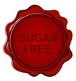 SUGAR FREE wax seal vector image vector image