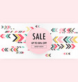 sweet abstract geometric pink background sale vector image vector image