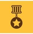 The medal icon Reward symbol Flat vector image