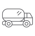 truck thin line icon transport and automobile vector image vector image