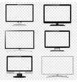 tv screen and computer monitor set vector image vector image