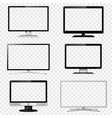 tv screen and computer monitor set with vector image vector image