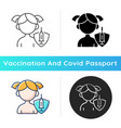 vaccination kids icon vector image vector image