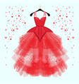 valentine day party dress with fancy heart decor vector image vector image