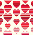 Valentine pattern Seamless texture with hearts vector image vector image