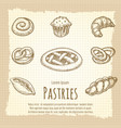vintage poster of bakery products vector image