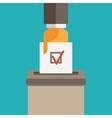 voting symbol vector image