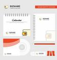 wallet logo calendar template cd cover diary and vector image