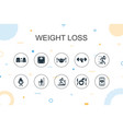 weight loss trendy infographic template thin line vector image