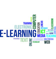 word cloud elearning vector image vector image