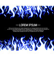 background flame style cartoon blue vector image