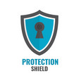 shield security icon protection logo shield vector image