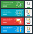 Customer Support Data Storage Responsive Design vector image